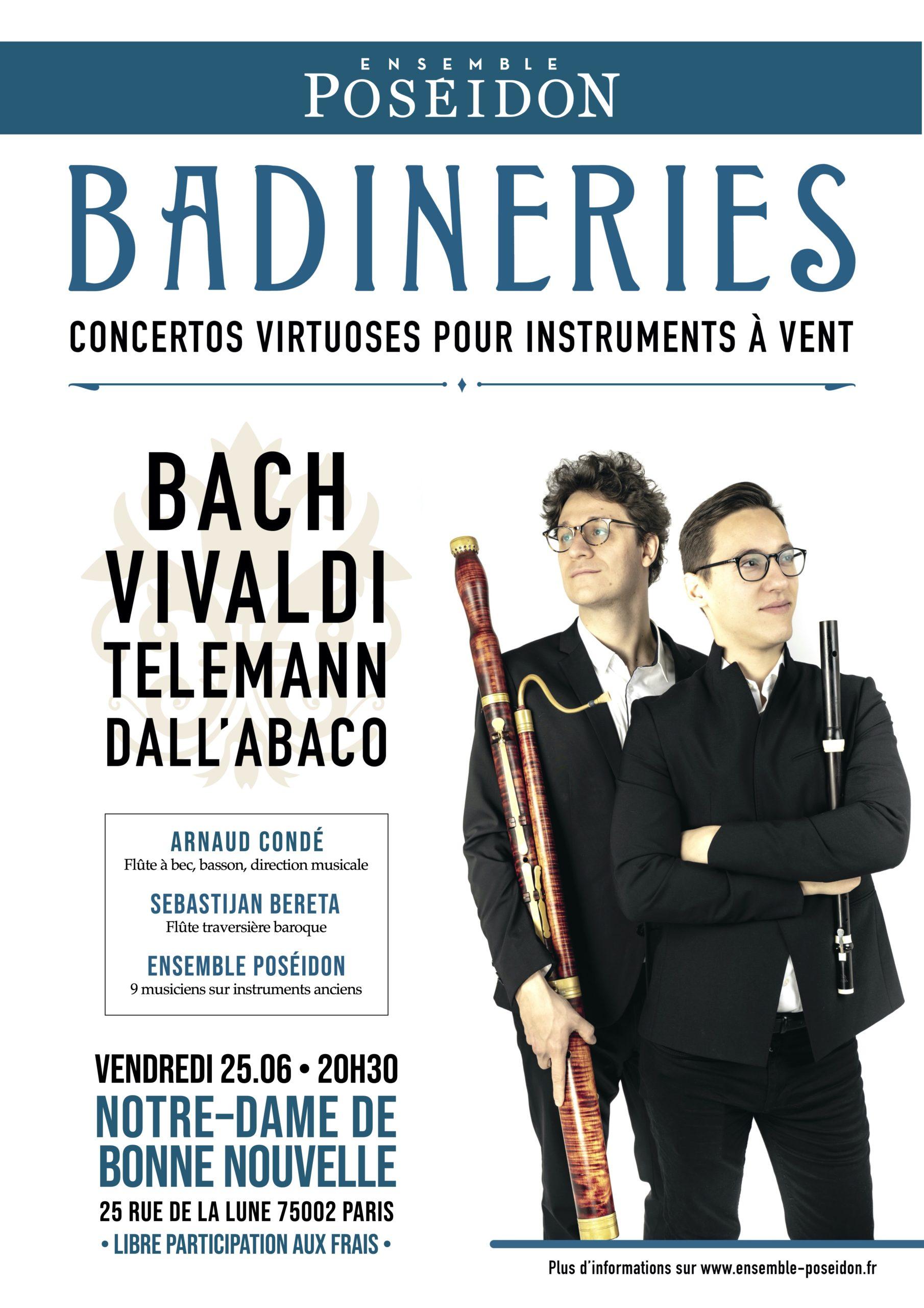 Concertos virtuoses pour instruments à vent de l'ensemble Poséidon